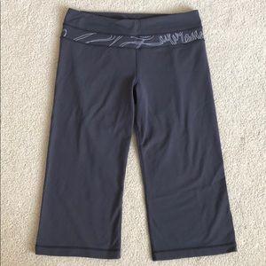 Lululemon Womens Dark Grey Cropped Yoga Pants